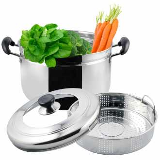 3Ply Bottom Steamer Pot 22_24cm